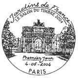 Oblitération 1er jour à Paris le 4 juin 2004