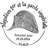 Oblitération 1er jour à Paris le 26 juin 2004
