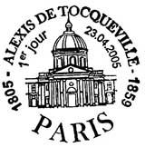 Oblitération 1er jour à Paris le 23 avril 2005