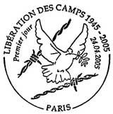 Oblitération 1er jour à Paris et Lyon le 24 avril 2005
