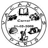 Oblitération 1er jour à Paris le 21 mai 2005