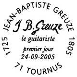 Oblitération 1er jour à Tournus le 24 septembre 2005