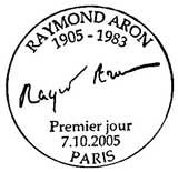 Oblitération 1er jour à Paris le 7 octobre 2005