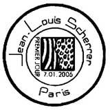 Oblitération 1er jour à Paris le 7 janvier 2006