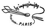 Oblitération 1er jour à Paris le 21 janvier 2006