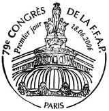 Oblitération 1er jour à Paris le 18 juin 2006