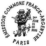 Oblitération 1er jour à Paris le 21 juin 2006