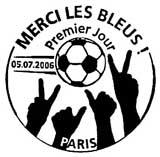 Oblitération 1er jour à Paris le 5 juillet 2006