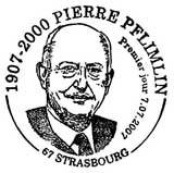 Oblitération 1er jour à Strasbourg le 7 juillet 2007