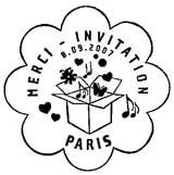 Oblitération 1er jour à Paris le 8 septembre 2007