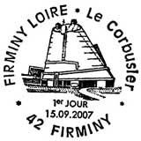 Oblitération 1er jour à Firminy le 15 septembre 2007