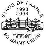 Oblitération 1er jour à Saint-Denis le 28 janvier 2008