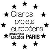 Oblitération 1er jour à Paris au salon du timbre, Parc Floral du 19 au 22 juin 2008
