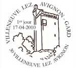 Oblitération 1 jour  à Paris au Carré d'Encre et Villeneuve lez Avignon le 17 et 18 avril 2010