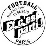 Oblitération 1er jour à Paris  au Salon du timbre le 13 juin 2010