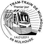 Oblitération 1er jour à Paris  au Carré d'Encre et à Mulhouse le 14 et 15 janvier 2011