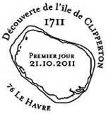 Oblitération 1er jour à Paris  au Carré d'Encre et Au Havre le vendredi 21 octobre 2011.'