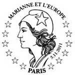 Oblitération 1er jour à Paris  au Carré d'Encre et au Salon Philatélique d'Automne à Paris Expo le 3, 4 et 5 novembre 2011.'