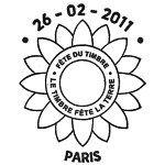 Oblitération 1er jour à Paris  au Carré d'Encre et dans les 107 villes participant à la fête du timbre le 26 et 27 février 2011