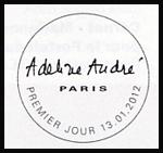 Oblitération 1er jour à Paris au Carré d'Encre le 6 et 7 janvier 2012