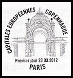 Oblitération 1er jour à Paris au Carré d'Encre le 23 et 24 mars 2012