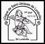 Oblitération 1er jour à Paris au Carré d'Encre, au Salon philatélique d'Automne et à Lunéville le 10 et 11 novembre 2012