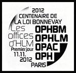Oblitération 1er jour à Paris au Salon philatélique d'Automne le dimanche 11 novembre 2012