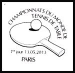 Oblitération 1er jour à Paris au Carré d'Encre le lundi 13 mai 2013