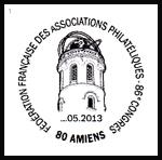 Oblitération 1er jour à Paris au Carré d'Encre et Amiens le 17 e 18 mai 2013
