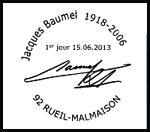 Oblitération 1er jour à Paris au Carré d'Encre, Marseille et Rueil-Malmaison le samedi 15 juin 2013