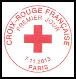 Oblitération 1er jour à Paris au Carré d'Encre et à l'Espace Champerret le 7,8 et 9 novembre 2013