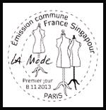 Oblitération 1er jour à Paris au Carré d'Encre et à l'Espace Champerret le 8 et 9 novembre 2013