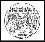 Oblitération 1er jour à Paris au Carré d'Encre et à Muret à Volvic le 8 et 9 novembre 2013