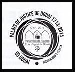 Oblitération 1er jour à Paris au Carré d'Encre et à Douai le vendredi 3 octobre 2014