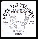Oblitération 1er jour dans les 99 villes participant à la fëte du timbre le Samedi 11 octobre 2014