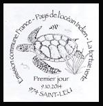 Oblitération 1er jour à Paris au Carré d'Encre et Saint-leu le jeudi 9 octobre 2014