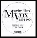 Oblitération 1er jour à Paris au Carré d'Encre et à Condé-sur-Noireau'
