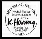 Oblitération 1er jour à Paris au Carré d'Encre le 19 et 20 septembre 2014