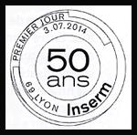 Oblitération 1er jour à Paris au Carré d'Encre et à Lyon le jeudi 3 juillet 2014