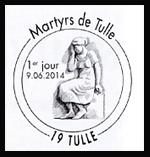 Oblitération 1er jour à Paris au Carré d'Encre et Tulle (Corrèze) le lundi 9 juin 2014