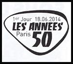 Oblitération 1er jour à Paris au Carré d'Encre et salon ''Planète Timbres'' le mercredi 18 juin 2014