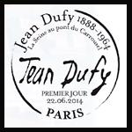 Oblitération 1er jour à Paris au Salon ''Planète Timbres''  et au Havre le dimanche 22 et lundi 23 juin 2014