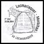 Oblitération 1er jour à Paris au Carré d'Encre et Locmariaquer (Morbihan) les 20, 21 et 22 juin 2014