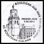 Oblitération 1er jour à Paris au Carré d'Encre et à Boulogne-sur-Mer (Pas-de-Calais) les 9, 10 et 11 mai 2014