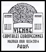 Oblitération 1er jour à Paris au Carré d'Encre le 18 et 19 avril 2014