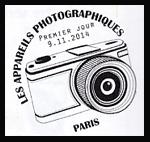 Oblitération 1er jour à Paris au Carré d'Encre et au salon d'automne le dimanche 9 novembre 2014