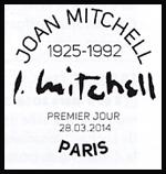 Oblitération 1er jour à Paris au Carré d'Encre les 28 et 29 mars 2014