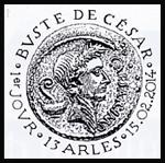 Oblitération 1er jour à Paris au Carré d'Encre et au musée départemental Arles antique le samedi 15 février 2014