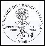 Oblitération 1er jour à Paris au Carré d'Encre et à Eparnay le jeudi 6 novembre 2014