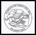 Oblitération 1er jour à Paris au Carré d'Encre, au salon philétélique d'automne et à Saint-Paul (Réunion) le vendredi 7 novembre 2014